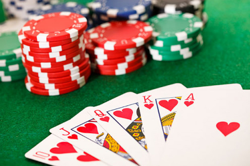 Poker cards and chips (public domain)