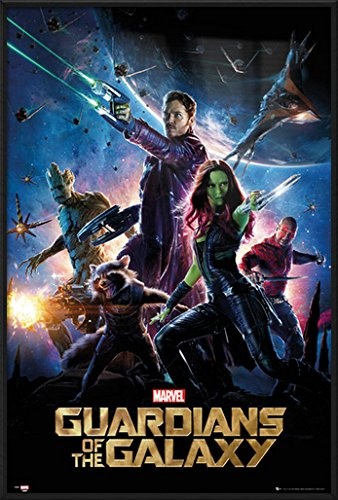 """Guardians Of The Galaxy - Framed Movie Poster / Print (Regular Style) (Size: 24"""" x 36"""")"""