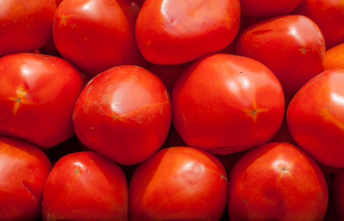 Red Ripe Tomatoes. These tomatoes are to be washed and cut up to be added in the taco salad recipe.