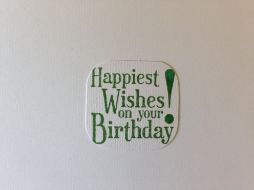 Happy Birthday stamping trimmed too close