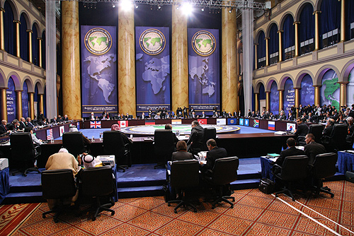 WASHINGTON, USA. Working sessions of the G-20 heads of states and governments.