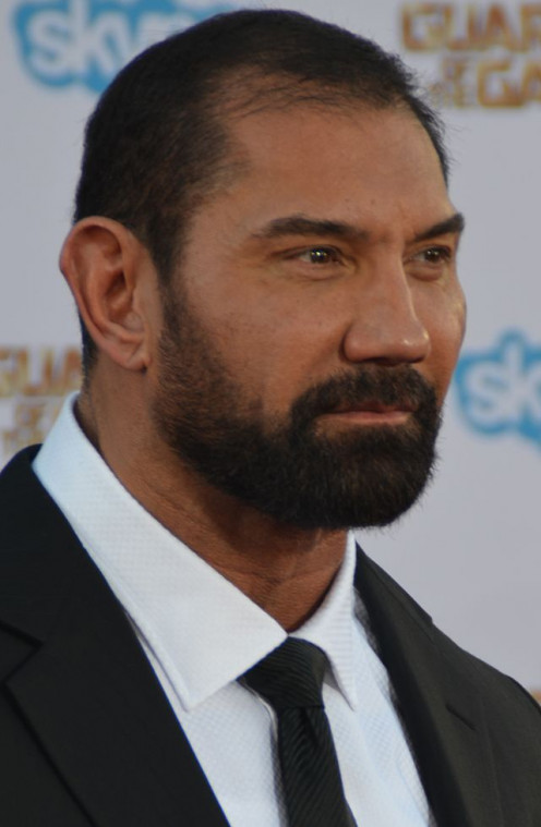 http://Dave Batista - Guardians of the Galaxy premiere - July 2014 (cropped) by Mingle Media TV - https://www.flickr.com/photos/minglemediatv/14529203277/. Licensed under Creative Commons Attribution 2.0 via Wikimedia Commons - http://commons.wikimed