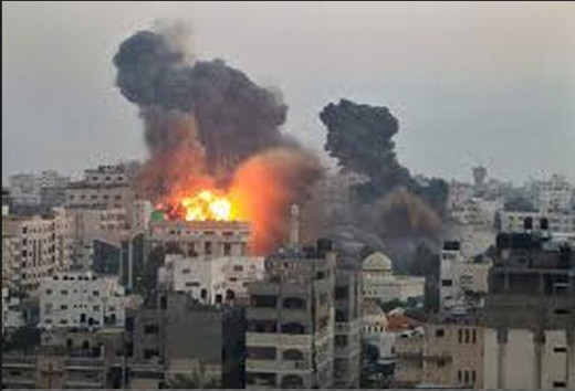 Smoke rises in Gaza as lives are lost