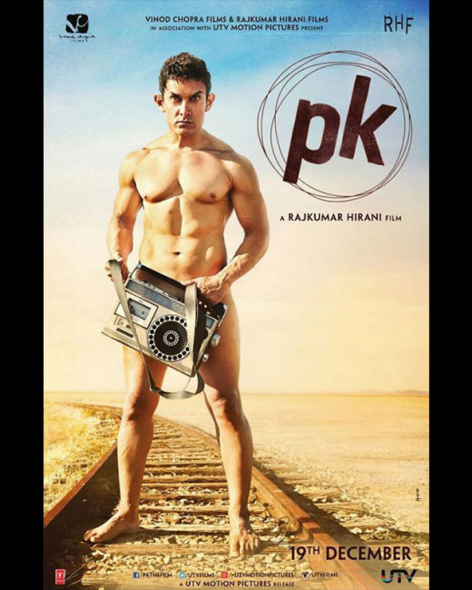 Aamir Khan has left little to the imagination with the first official poster of PK! Biscoot Showtym brings you Aamir Khan latest news. View : http://www.biscoot.com/description/25569/oh-teri-aamir-goes-nude