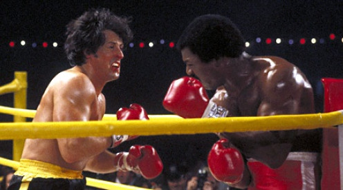 Rocky Balboa and Apollo Creed fought twice, once in the first film and once in part two. Apollo won the first time and Rocky won the sequel.