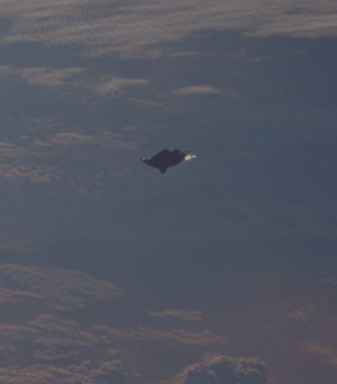 Photo showing the same object from the mission STS088, said to be Black Knight.