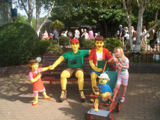 My Daughter with the LEGO Family in The Beginning.