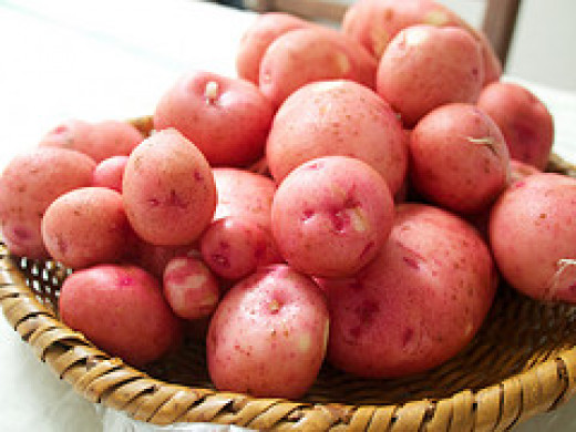 You can use red potatoes to bake some easy appetizers for a crowd.