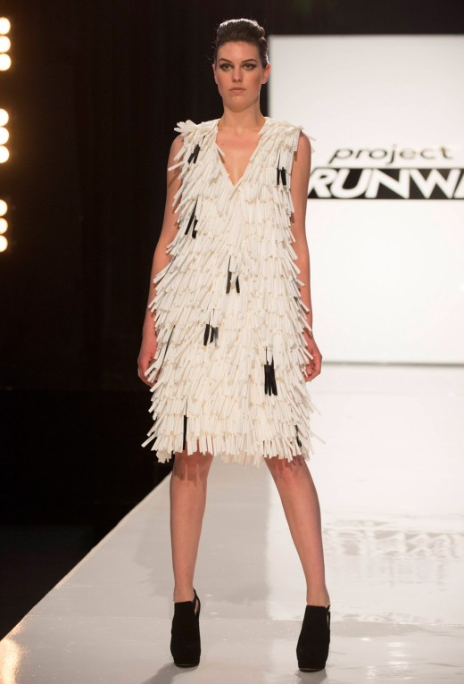 Sean Kelly's Episode 2 Runway look - Made out of straws.