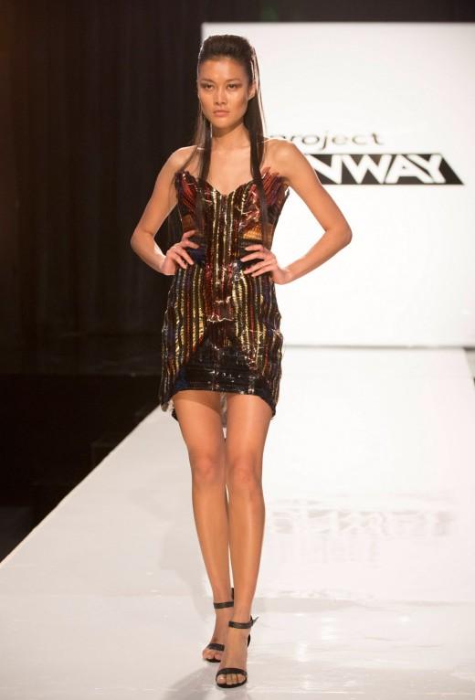 Carrie Sleutskaya Episode 2 runway elimination look