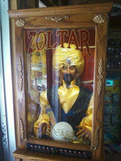 What's the name of the movie that Zoltar appeared in, and changed the course of things in the movie?
