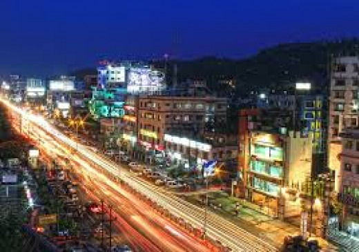 city guwahati assam india night urban