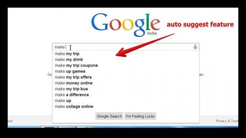 Google auto complete