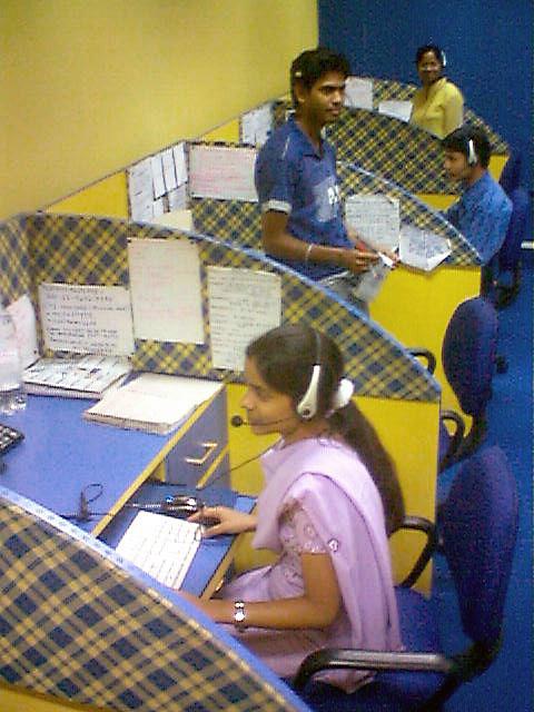 Indian call center handling BPO works