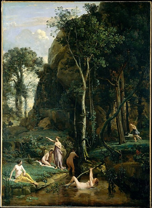 Diana and Actaeon (Diana Surprised in Her Bath) Camille Corot (French, Paris 1796–1875 Paris )