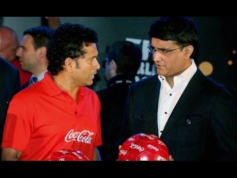 Sourav Ganguly with Sachin Tendulkar