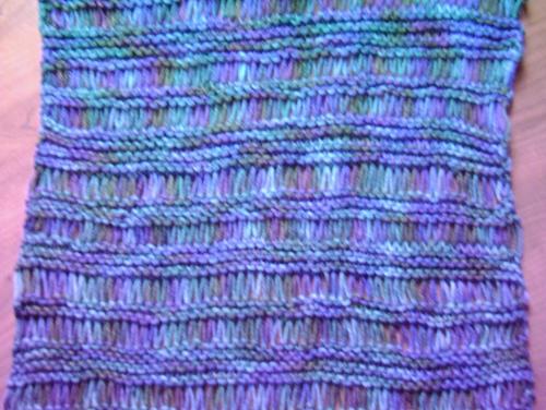 Lace shawl in variegated yarn