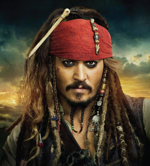 "Captain Jack Sparrow, ""Pirates of the Caribbean"""