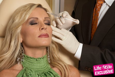 Tamra getting an injection.