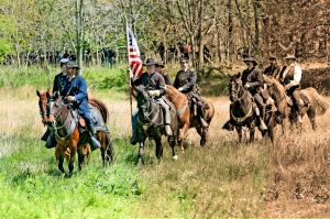 Civil War Cavalry re-enactors
