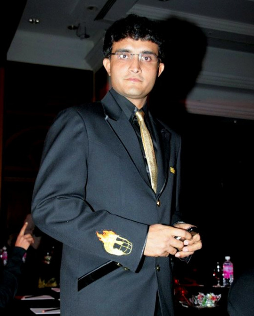 Sourav Ganguly at the opening of the mascot of Knight Riders