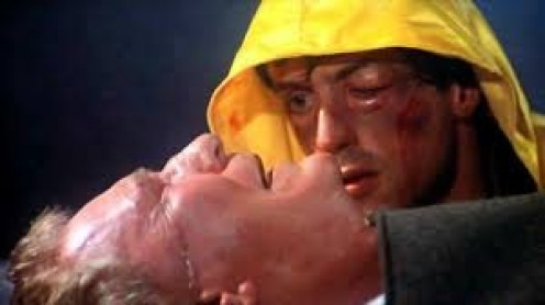 Rocky's trainer and father figure Mickey died of a heart attack in Rocky 3.