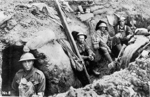 Australian Soldiers Find Some Rare Respite In The Trenches