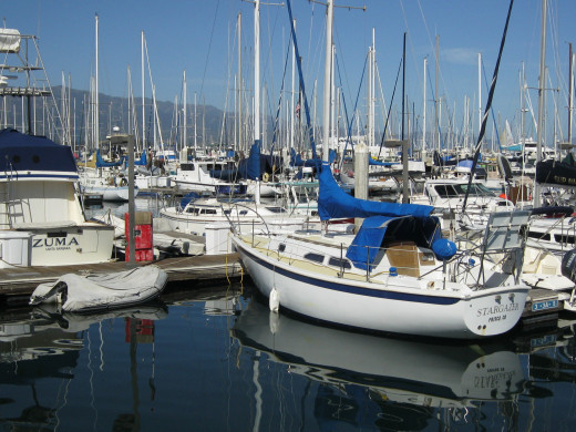 Santa Barbara Yacht Club area.