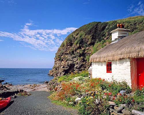Isle of Man cottage by the sea.