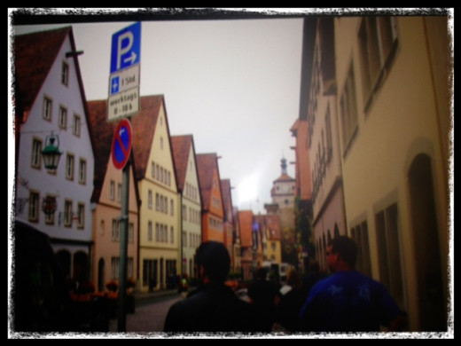 Exploring the streets of Rothenburg