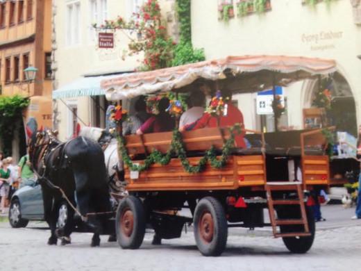 Take a horse-drawn tour of Rothenburg!