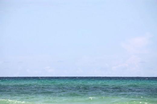 Beautiful blue water of the Gulf!