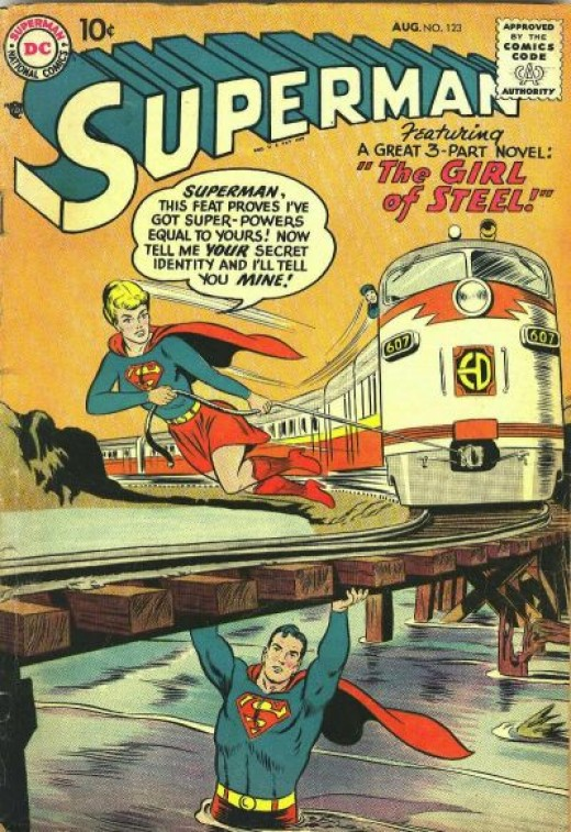 Her first and only appearance in Superman 123 1958.