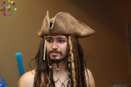 Jack Sparrow cosplayer in Chicago at Anime Midwest 2013.