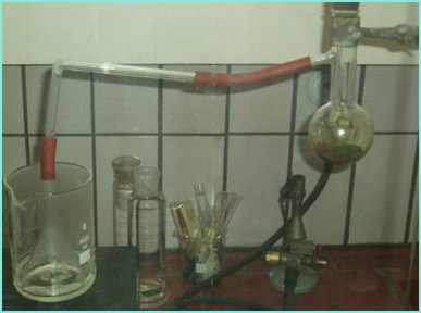 Chlorine Gas Generator Using Permanganate.  This chlorine in this set up is used for making chlorate.