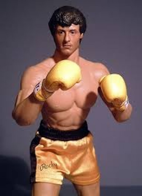 The popularity of the Rocky franchise led to the creation of Rocky action figures.
