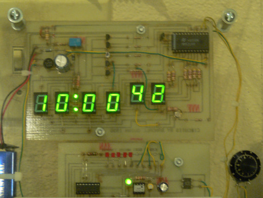 My digital clock. My creation, but not an invention.