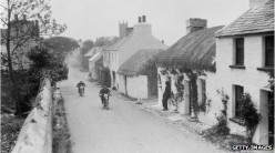 Photo from 1920's Isle of Man TT motorbike race.
