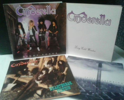 Cinderella's four studio albums - NIGHT SONGS (1986), LONG COLD WINTER (1988), HEARTBREAK STATION (1990) and STILL CLIMBING (1994)