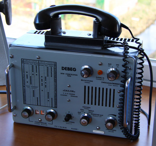 Marine radios, the Debeg 7606 VHF radio, the German version of the Sailor RT143