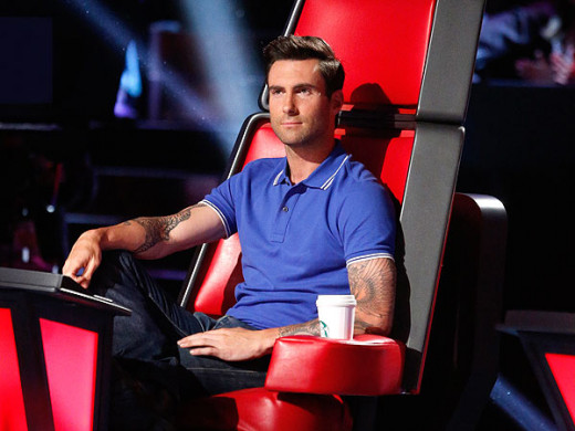 Adam Levine on 'The Voice'.
