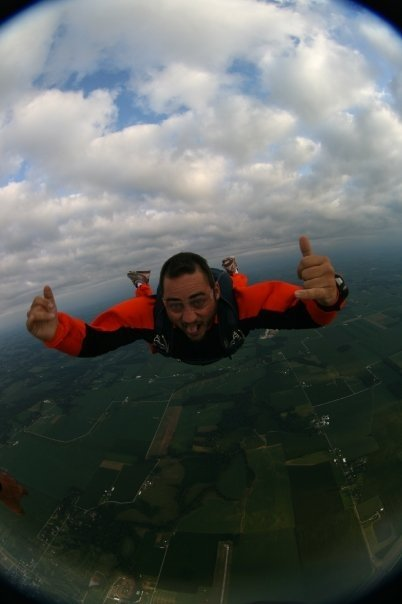 Doug Lingner Enjoying a Skydive
