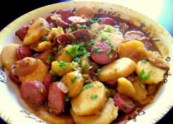 Hungarian Sausage and Potato Goulash