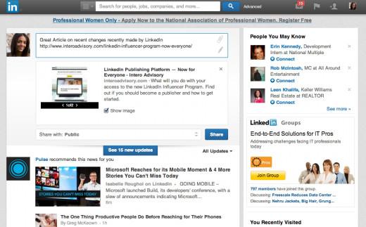 LinkedIn's design as of 2014