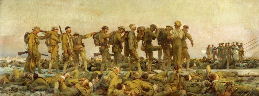 John Singer Sargent's painting of gassed soldiers