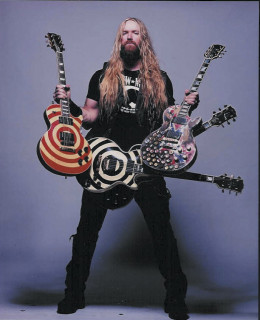 Guitar gladiator Zakk Wylde and some of his battle axes.