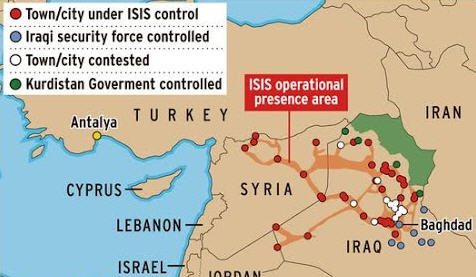 ISIS Controlled Zones