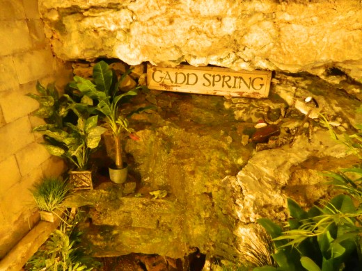 In one home/shop there is actually a spring bubbling up from the ground INSIDE the house!
