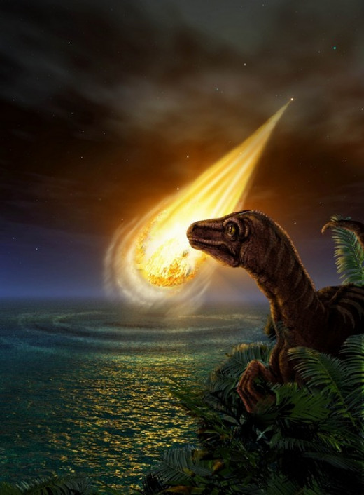 While many scientist accept that earth was struck by an asteroid, there is still dispute that says it was the dinosaurs' inability to adapt to the new climate that caused their demise