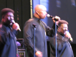 "The Whispers, put on an awesome performance as they sang such hits as ""Chocolate Girl"" and ""I Only Meant To Wet My Feet."" The Whispers are celebrating 50 years of making music."
